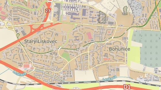 Tramvajové linky 6 a 8 budou končit v zastávce Švermova (bod na mapě)