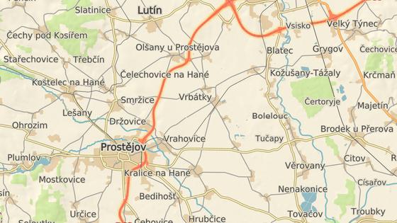Nehoda se stala na silnici mezi Držovicemi a Olšany u Prostějova.