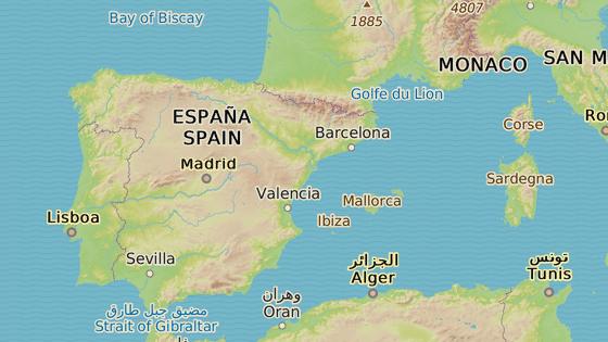 Město Teruel v Aragonii leží ve výšce 915 m. n. m.