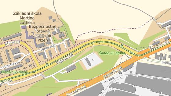 Vejprnická ulice je uzavřená od křižovatky s Domažlickou třídou až ke křižovatce s Křimickou ulicí.