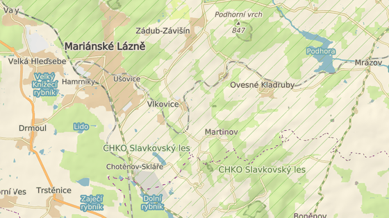 nehoda se stala poblíž Mariánských lázní u obce Vlkovice