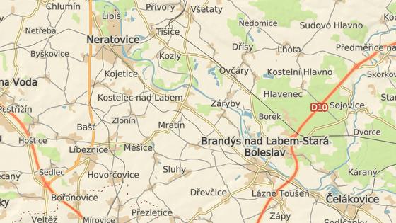 Nehoda se stala na silnici č. 244 u Kostelce nad Labem.