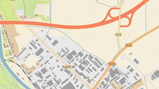 Silničáři v Kroměříži opravují Hulínskou ulici (červená značka), která je hlavním vjezdem do města, a sousední Kaplanovu ulici (modrá).
