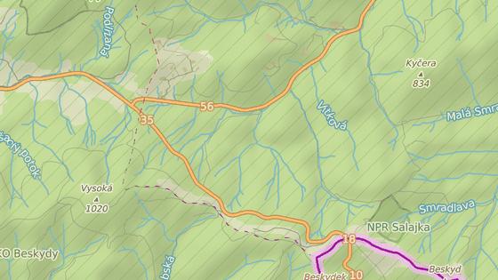 Úsek od křižovatky silnic I/56 (Bílá) a I/35 (Horní Bečva) směrem na hraniční přechod Bumbálka byl neprůjezdný.