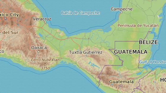 Epicentrum zemětřesení bylo asi 100 kilometrů od pobřeží jihomexického státu Chiapas.