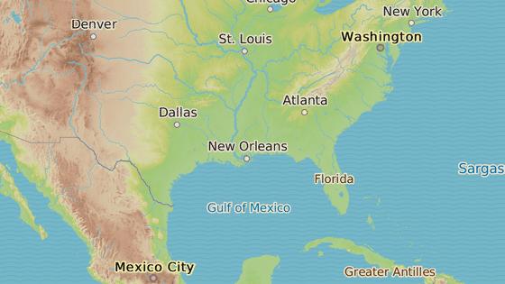 Alamo (černě), San Antonio (modře), Austin (zeleně), Atlanta (azurově).