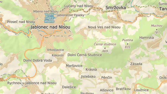 K nehodě došlo u Dolní Černé Studnice.
