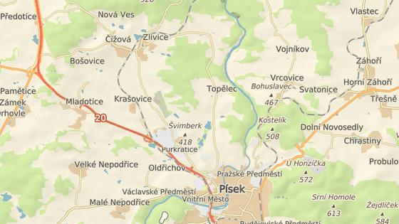 Nehoda se stala poblíž odbočky k letišti u Krašovic.