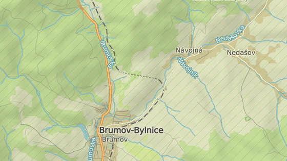 Nehoda se stala těsně za městem Brumov-Bylnice ve směru na Návojnou.
