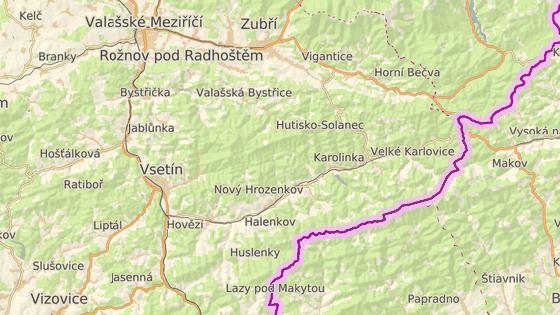 Zvýšená hladina řeky Bečvy hrozila ve Velkých Karlovicích či ve Vsetíně.