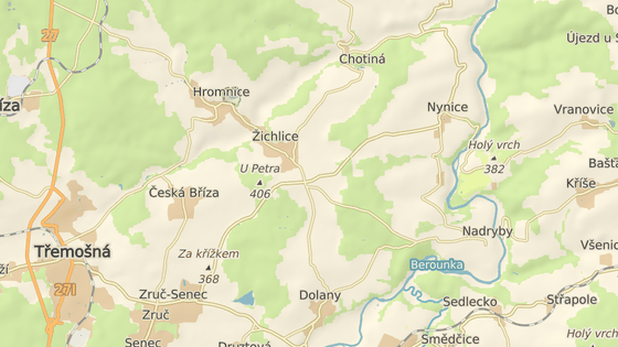 Přívoz v Darové na Rokycansku.