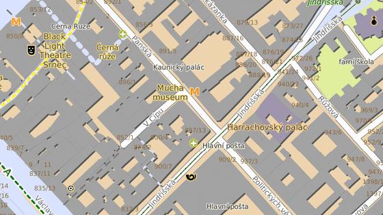 Hořelo v hotelu na rohu ulic Panská a V Cípu.