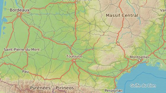 Blagnac se nachází na předměstí Toulouse.