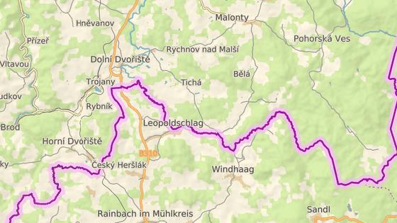 Tvrz Tichá stojí kousek od rakouských hranic.