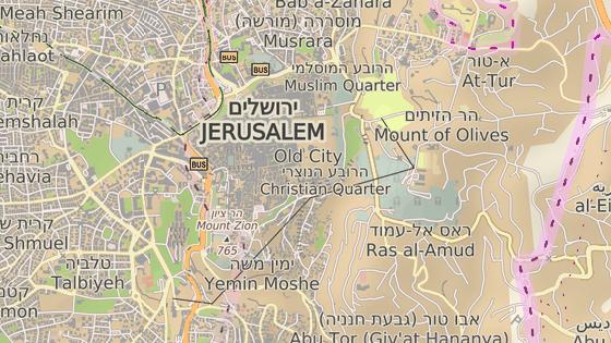 Značka ukazuje místo, kde je Chrámová hora