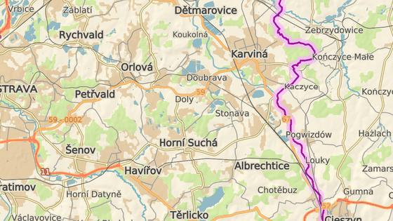 Areál bývalého Dolu Barbora leží mezi Karvinou, Havířovem a Orlovou.