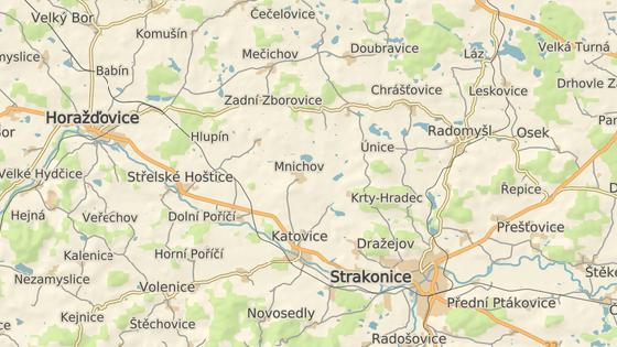 Nehoda se stala u obce Mnichov na Strakonicku.