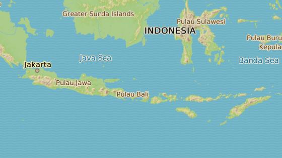 Sopka Agung na ostrově Bali.