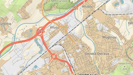 Koksovna Svoboda v Ostravě-Přívozu leží blízko zastavěného území.