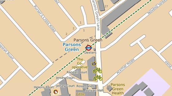 Incident se odehrál ve stanici Parsons Green