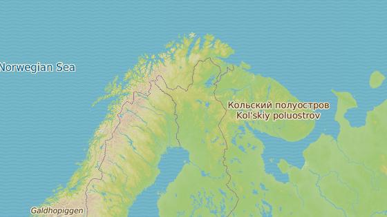 Nejsevernější bod Evropy Nordkapp v Norsku