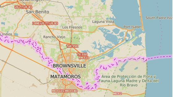 Zařízení společnosti SpaceX pro testování raket leží nedaleko amerických hranic s Mexikem.