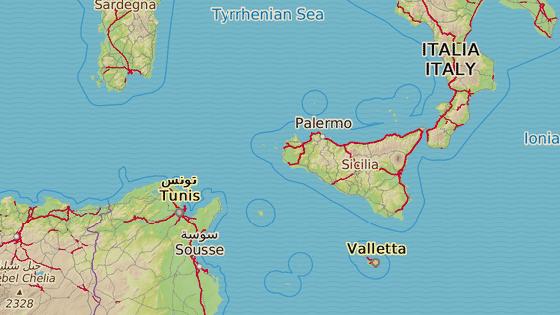 Porto Empedocle leží na jihu Sicílie asi 250 kilometrů od tuniských břehů. (27. července 2020)