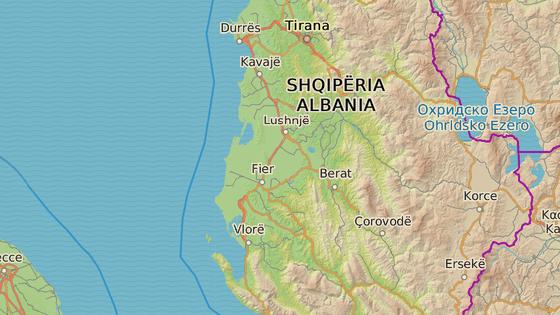 Vlora se nachází přibližně 90 kilometrů od Tirany.