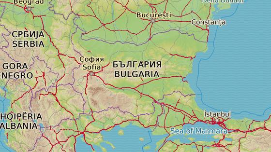 Rilský klášter se nachází na jihozápadě Bulharska.