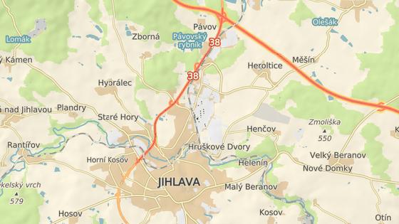 Ke střelbě došlo ve Slavíčkově ulici v severní jihlavské části Bedřichov.
