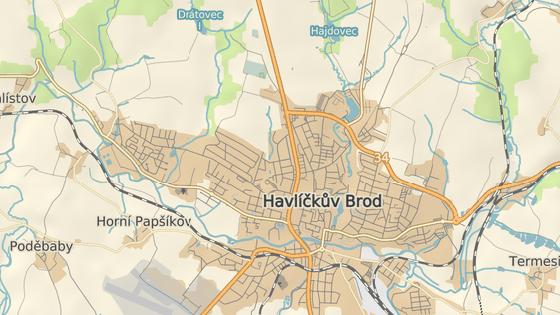 Zahradnického a Wolkerova ulice jsou vítanou zkratkou v severozápadní části Havlíčkova Brodu.