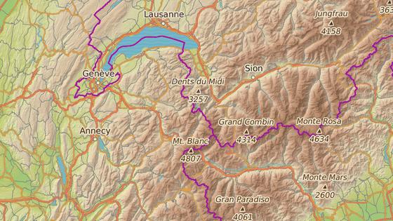 Finhaut, kanton Valais, Švýcarsko