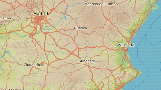Město Pozo Caňada je vzdálené asi 200 kilometrů od Madridu.