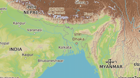 Bangladéš leží v deltě Brahmaputry a Gangy, kde se arzén po miliony let přirozeně kumuloval.
