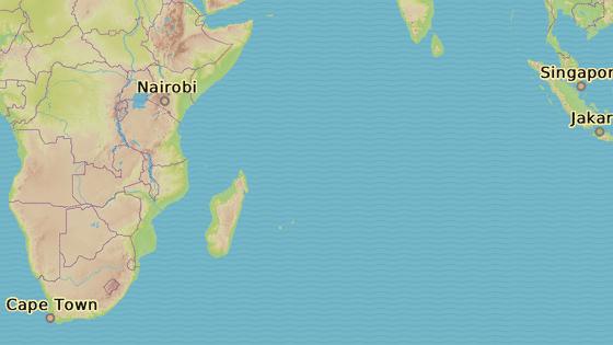 Ostrovní stát Mauricius leží asi 900 km východně od Madagaskaru.