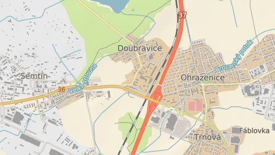 Úpravy křižovatky silnice I/36 a odbočky do Doubravic.