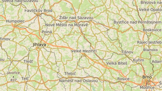 Opravovat se začne dálnice u Velkého Meziříčí (červená značka) a úsek mezi Velkým Beranovem a Měřínem (modrá značka).