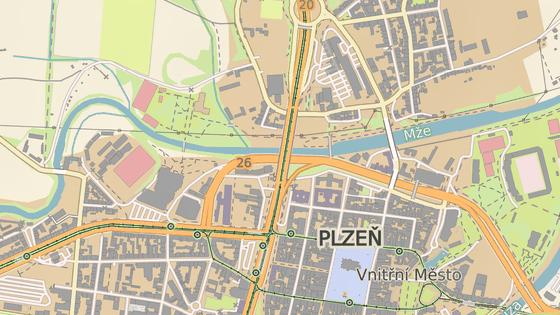 Most generála Pattona spojuje centrum Plzně a Severní předměstí.