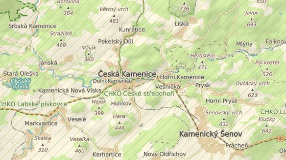 Kolize se stala mezi Českou Kamenicí a Horní Kamenicí.
