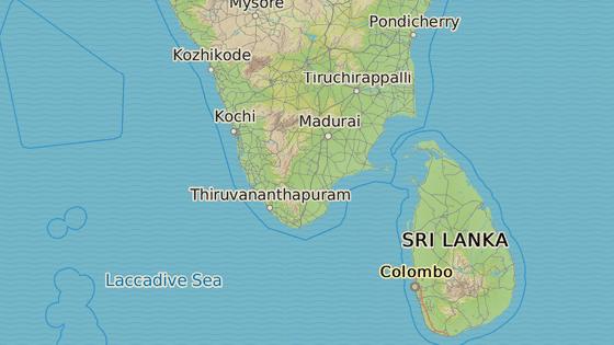 Kérala - stát na jihu Indie se silnými ekonomickými vazbami na Střední Východ.