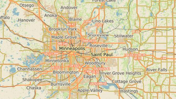 Město St. Paul se nachází přibližně patnáct kilometrů od města Minneapolis.