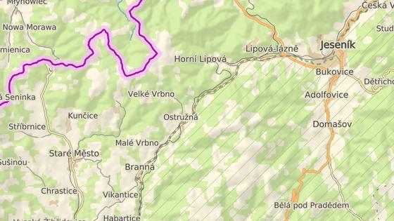 Další kontrolu podle sociálních sítích probíhá u obce Ostružná  u Skilandu a na druhé straně jsou dvě cesty na Heřmanovice