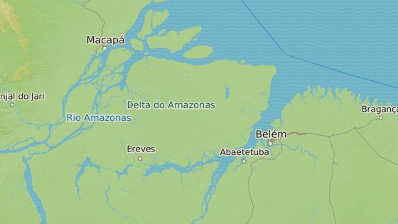 Ostrov Marajó v amazonské deltě na severu Brazílie