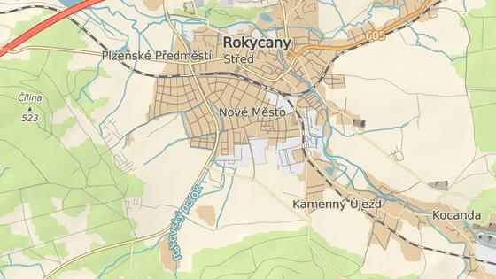 Pachatel střílel na ženu v Kotelské ulici v Rokycanech.