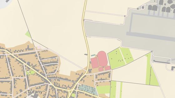 V těchto místech by na budoucím obchvatu Tuřan stály semafory.