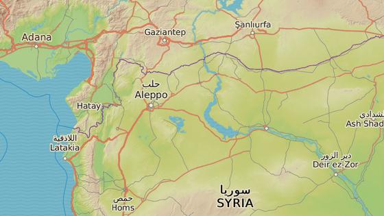 Město Kobani (oficiálně Ajn al-Arab) se nachází na severu Sýrie, východně od řeky Eufrat.
