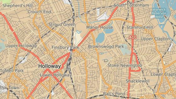 Místo útoku ve čtvrti Finsbury park