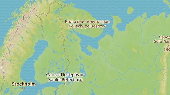 Ruské město Severodvinsk v Archangelské oblasti
