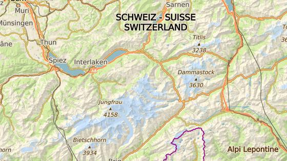 Ledovec Aletsch leží v Bernských Alpách.