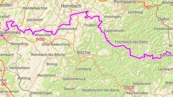 Město Bitche ve Francii